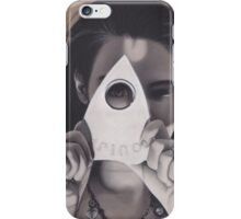 Realism Charcoal of Woman with Oujia Piece/Planchette iPhone Case/Skin