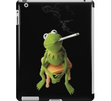 Kermit color photocopy style on blk iPad Case/Skin