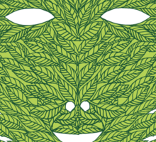 Green Man Mask Sticker