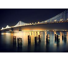 SF Bay Bridge Illuminated Photographic Print