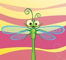 Critterz - Dragonfly 3 by Kat Massard