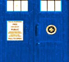 TARDIS Plain & Simple (Leggings & Duvet Cover) Sticker