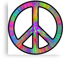 Peace Sign Trippy Canvas Print