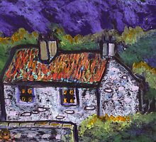 Thatched cottage  by sword