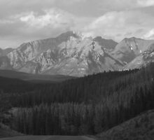 Rockies in Black and White by Tiffany Vest