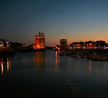 La Rochelle at Night by Pamela Jayne Smith