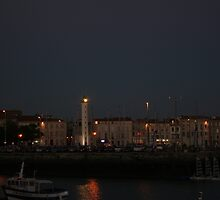 La Rochelle Lighthouse at Night by Pamela Jayne Smith