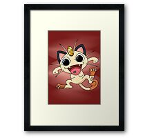 Meowth On Acid Framed Print