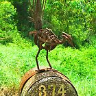 Lyrebird Mailbox by Penny Smith