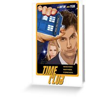 Time Club   Doctor Who   The Tenth Doctor & Rose Tyler Greeting Card