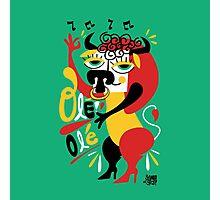 Toro loco - Crazy bull spanish ole ole Photographic Print
