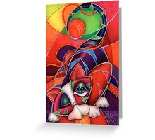 Beezy Bot Red Kitty Greeting Card