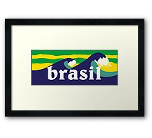Brasil waves ondas surf Framed Print
