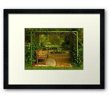 Cottage Arbour Framed Print