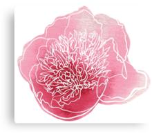Peony flower Canvas Print