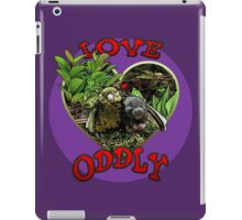 LOVE ODDLY (purple) iPad Case/Skin