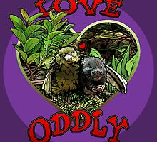 LOVE ODDLY (purple) by torg