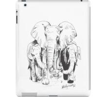 "Elephants holding ""hands"" iPad Case/Skin"