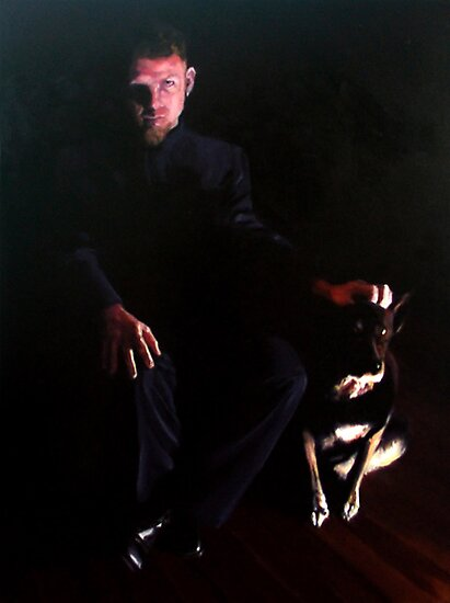 Tim (Portrait in oils.) by pauldrobertson