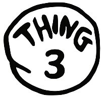 Thing 3 and thing 4 for couple and kids Photographic Print