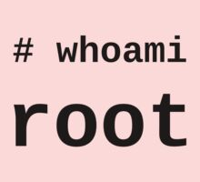 whoami root - light shirt for sysadmins Kids Clothes