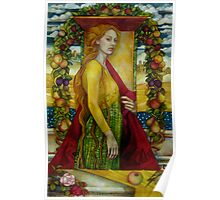 homage to Carlo Crivelli (XV century - born in Venice) Poster
