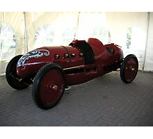 FIRE RED SPORTSCAR---PRE-1915 Photographic Print