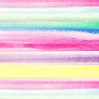 Modern abstract colorful watercolor stripe pattern by GirlyTrend