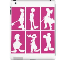 Kingdom Hearts - Character Roster (Pink) iPad Case/Skin