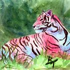 Pink Tiger  by Brenda Thour