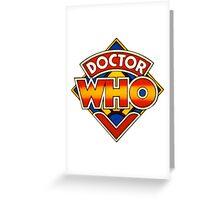 Doctor Who Tom Baker Logo (available as leggings) Greeting Card