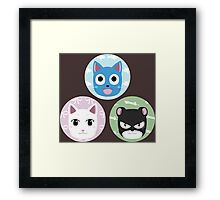 Chibi fairy cats Framed Print