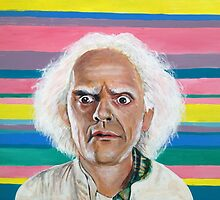 Great Scott :: Doc Brown from Back to the Future Inspired Fan Art by Kristin Frenzel