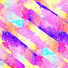 Abstract colorful rainbow watercolor brushstrokes by GirlyTrend