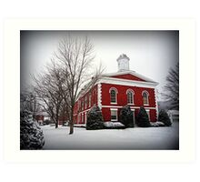 Iron County Courthouse in the Snow Art Print