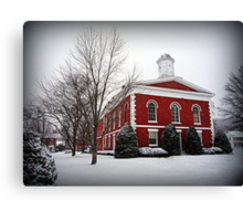 Iron County Courthouse in the Snow Canvas Print