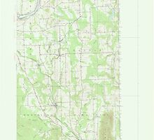 Maine USGS Historical Map Mars Hill 306651 1951 62500 by wetdryvac