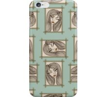 Glamour pattern with beautiful girl. iPhone Case/Skin