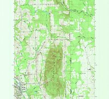 Maine USGS Historical Map Mars Hill 808060 1984 24000 by wetdryvac