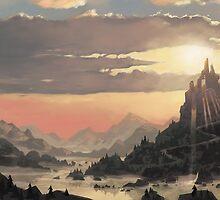 Sunrise Ruin by AlexHadfield