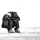 Homeless man by borstal
