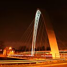 Hulme suspension bridge, Manchester by borstal