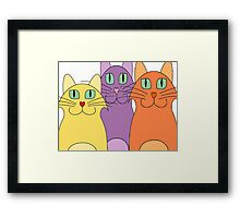 3 Cats Framed Print