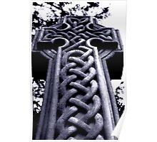 Celtic gravestone Poster