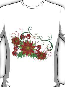 Poinsettias less busy T-Shirt