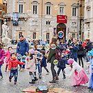 Bubbles of fun, Piazza Navona, Rome, Italy by Andrew Jones