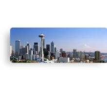 Seattle Washington Skyline and Puget Sound Canvas Print