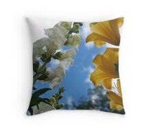 Snapdragons and Stella d'Oro to the Sky Throw Pillow