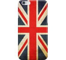 Vintage Grunge Union Jack Flag iPhone Case/Skin