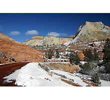 Zion National Park in Winter Photographic Print